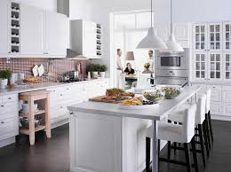 grey theme small kitchen design white theme small galley kitchen design with white dining table sets