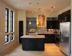 kitchen track lighting pictures. Track, Pendants, And Under-cabinet Lighting, In Addition To The Great Amount Of Natural Light. Two Curved Tracks Help Provide Light Work Kitchen Track Lighting Pictures