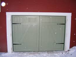 barn door garage doorsLow Headroom Garage Door Installation Exterior Hardware Unusual