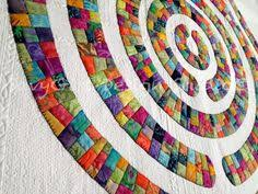 Circle Quilt Patterns Mesmerizing 48 Best CIRCLE QUILTS Images On Pinterest Quilt Blocks Bedspreads