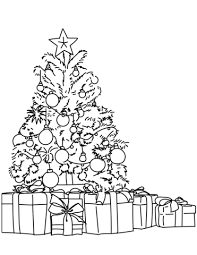 Christmas Tree Coloring Pages Free Coloring Pages