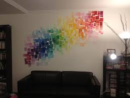 Wall Art Design Ideas, Simple Decorations Wall Paint Art Artistic  Sensational Rainbow Colourful Gradation Based