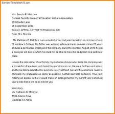 Academic Appeal Letter Cool Appeal Letter Sample Sample Of Financial Aid Appeal Letter Sample