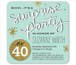 Sample Party Invite 26 Surprise Birthday Invitation Templates Free Sample Example