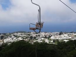 Flying through the clouds on the Anacapri Chair Lift of Capri