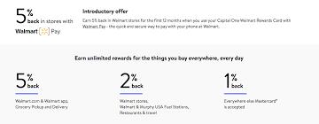 capital one walmart rewards credit card