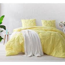 BYB Limelight Yellow Pin Tuck Comforter Set (2 options available)