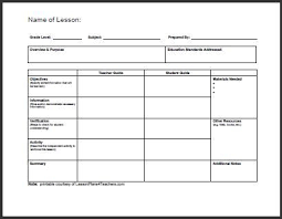 unit planner template for teachers daily lesson plan template 1 www lessonplans4teachers com for