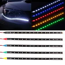 <b>4pcs 12V Light Car</b> interior RGB Waterproof LED Strip tape DRL ...
