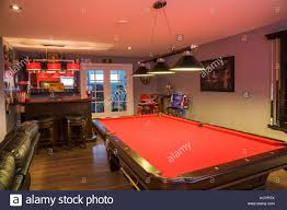 basement pool table. Simple Basement Pool Table And Bar In The Family Room Basement Inside A Contemporary  Country Style Residential Home Quebec Canada In Basement Table