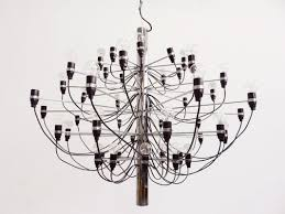 mid century model 2097 chandelier by gino sarfatti for arteluce 1