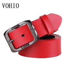 vohio male pin buckle belts women leather belt on the second floor men joker red leather belts taekwondo belts sauna belt from yanzhoucheng 28 13 dhgate