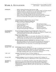 Mechanical Engineering Resume Templates 2 Mechanical Engineer