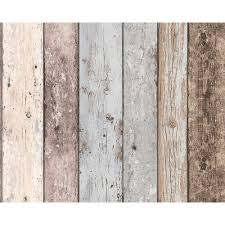 as creation painted wood beam wooden panel faux effect textured wallpaper 855039