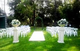 An example of our Garden Wedding Ceremony Set-up.. 6mtr Cream or Red