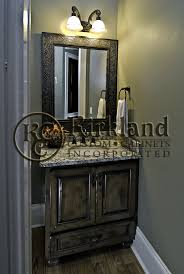 Half Bathroom Vanity Half Bath Vanity Built From Maple And Has A Dark Coffee Glaze