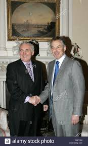 British Prime Minister Tony Blair (right) and Irish counterpart Stock Photo  - Alamy