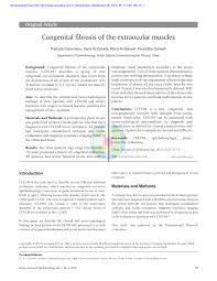 Pdf Congenital Fibrosis Of The Extraocular Muscles