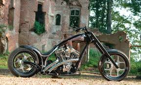 gothic custom chopper