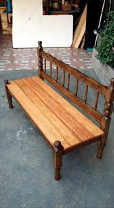 cool pallet furniture. Upcycled Vintage Old Bed Into Pallet Bench Cool Furniture