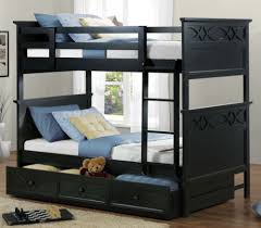 Kids Bunk Bed Bedroom Sets Homelegance Sanibel 3 Piece Bunk Bed Kids Bedroom Set In Black