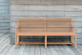 Small Picture Garden bench contemporary teak with backrest TECTO Tectona