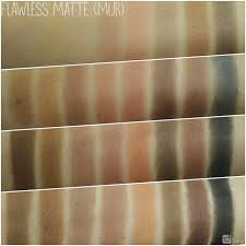 makeup revolution 32 eyeshadow palette flawless matte review