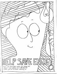 Save Energy Coloring Page For Kids Free Printable Picture