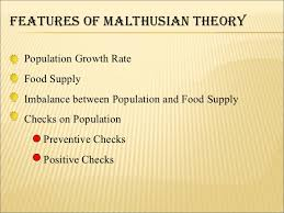 comperative study about optimum and malthusian theory of population 6 features of malthusian theory population
