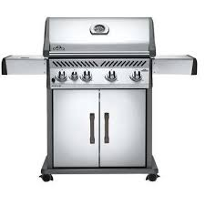rogue 525 4 burner natural gas grill in stainless steel with range side burner