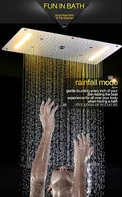 Großhandel Made In China 5 Funktion 700x380mm Dusche Niederschlag Wassersäule Mistfall Wasserfall Deckenhalterung Led Kopfbrause 20180927 Von