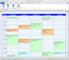 college calendar maker 8 best images of example itinerary of college college student