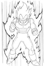 Dragon Ball Z Coloring Pages Vegeta Super Saiyan Coloringstar