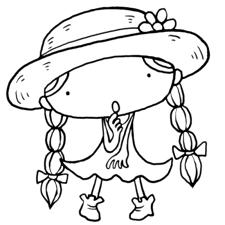夏が来た首をかしげてなにかしら麦わら帽子をかぶった三つ編みおさげ