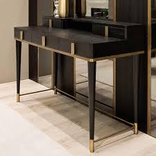 black writing desk. Black Oak Italian Designer Writing Desk
