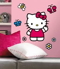 Amazon.com: ROOMMATES RMK1679GM Hello Kitty The World of Hello Kitty Peel  and Stick Giant Wall Decals: Home Improvement