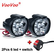 VooVoo <b>2Pcs 6 LED</b> Motorcycle Light Headlight Assembly 10W ...