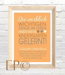 Kindergarten Print 30x45 Cm Abschied Von Eazy Peazy Auf