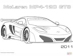 2011 Mclaren Mp4 12c Gt3 Kleurplaat Gratis Kleurplaten Printen