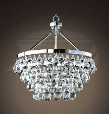 crystal and chrome chandelier modern style glass 5 light luxury tiara 3 full size