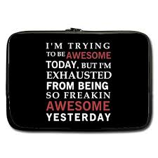 Trying Quotes Beauteous Amazon Modern Design Funny Humorous Quotes Laptop Sleeve I'm