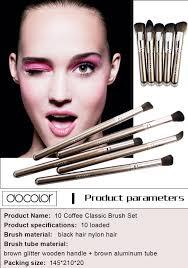 Docolor <b>10pcs</b> Coffee Classic Brush Set High Quality Brush <b>Portable</b> ...