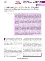 Mentor Breast Implants Size Chart Pdf Open Capsulotomy An Effective But Overlooked Treatment