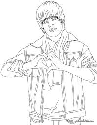 Small Picture Justin Bieber love sign coloring page More Famous People