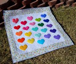 Lovey Dovey Baby Quilt | AllFreeSewing.com & Lovey Dovey Baby Quilt Adamdwight.com