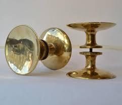 Pair of Modernist Bronze Push Pull Round Door Handles at 1stdibs
