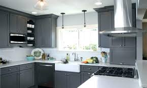 grey cabinets kitchen painted color red walls paint colors with cream