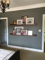 simple and elegant long floating shelves