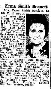 ERMA SMITH BENNETT OBITUARY - Newspapers.com
