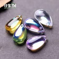 2019 14x8mm cabochon teardrop lampwork mermaid beads bead pendant waterdrop glass beads handmade diy jewelry making 16021 from ping2 195 16 dhgate